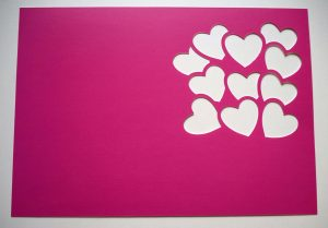 Cut Out Pink Valentine Card Front