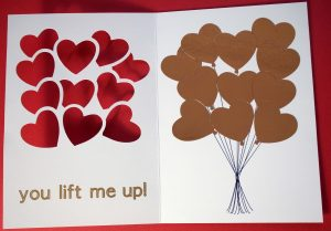 Golden Heart Balloon Cards