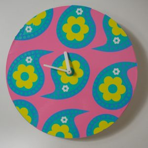 Paisley Pink Mod Clock Cricut Pattern Project