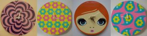 60s Mod Clocks Made on the Cricut Maker - Set of 4