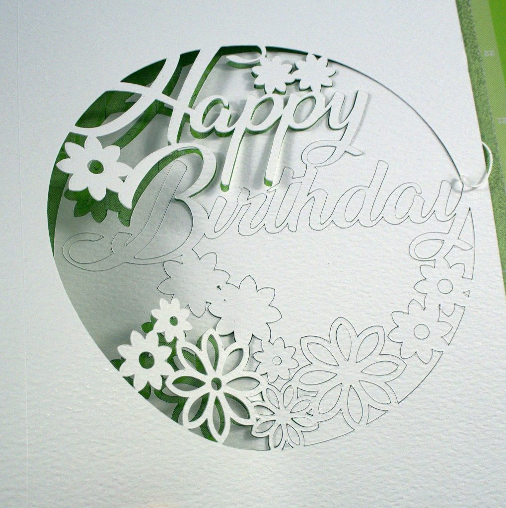 Happy Birthday Card on Cricut Cutting Mat