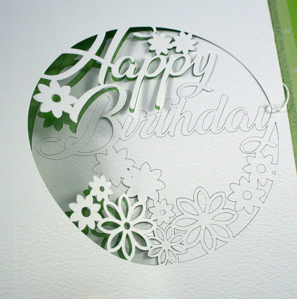 Happy Birthday Card on Cricut Cutting Mat