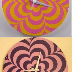 Mod 60s Clock Design SVG for Cricut Silhouette