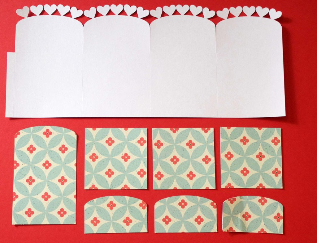 Base pieces for pop-up box card
