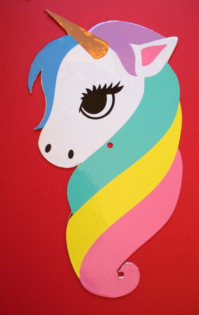 Unicorn eye, nostrils and ear