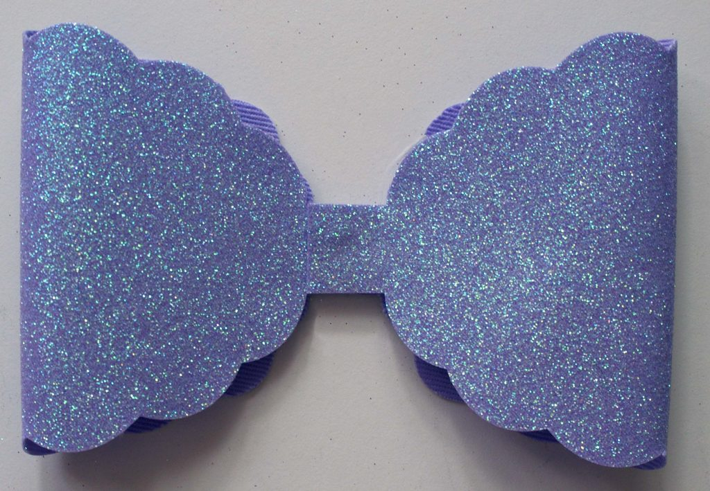 Part of assembled lilac bow