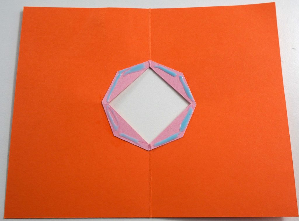 Gluing base of pop-up card