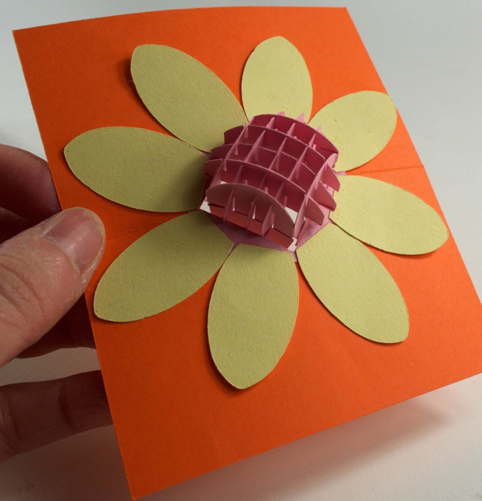 Sliding pop up section into flower card