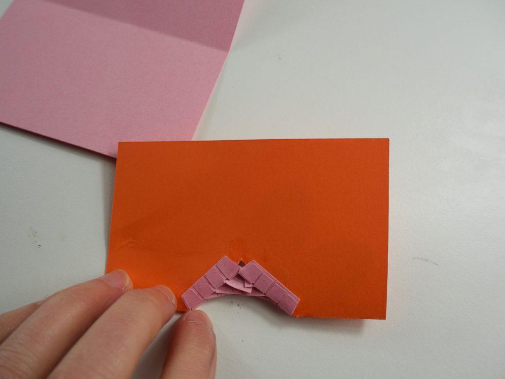Back view of pop-up card