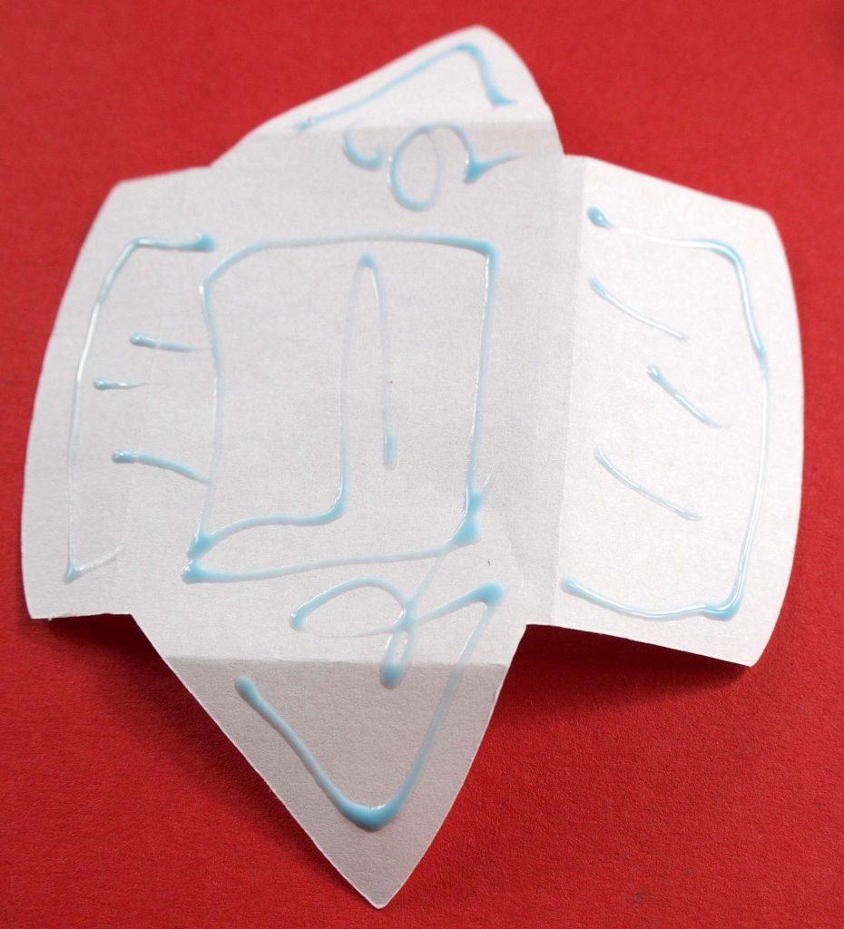 Glue on tooth fairy envelope piece