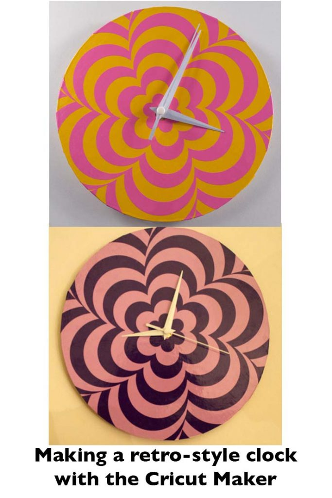 Pinterest Op Art 60s Clock