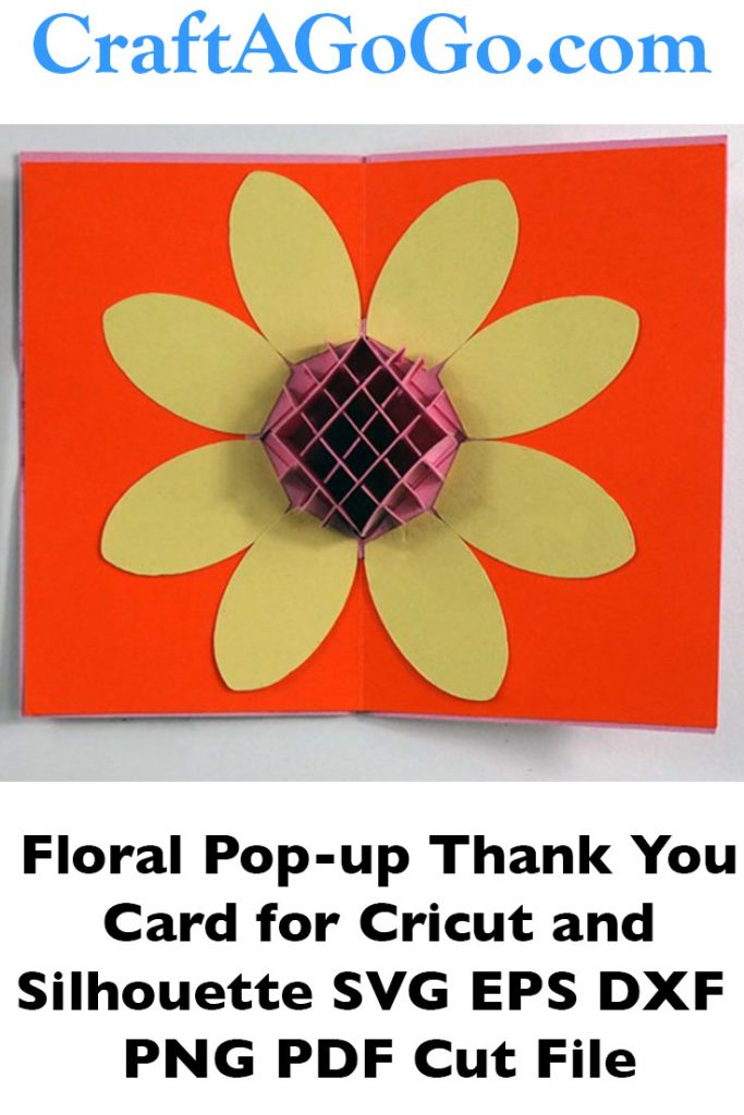 Pop-up Flower Thank you Card