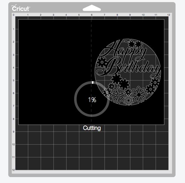 Cutting an Intricate Birthday Card on the Cricut