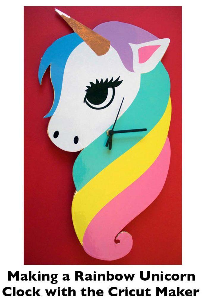 Making a Rainbow Unicorn Wall Clock with the Cricut Maker