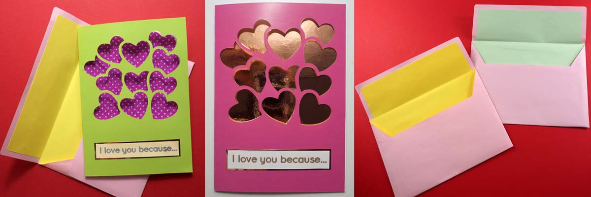 Cut Out Heart-shaped Balloon Card - free SVG