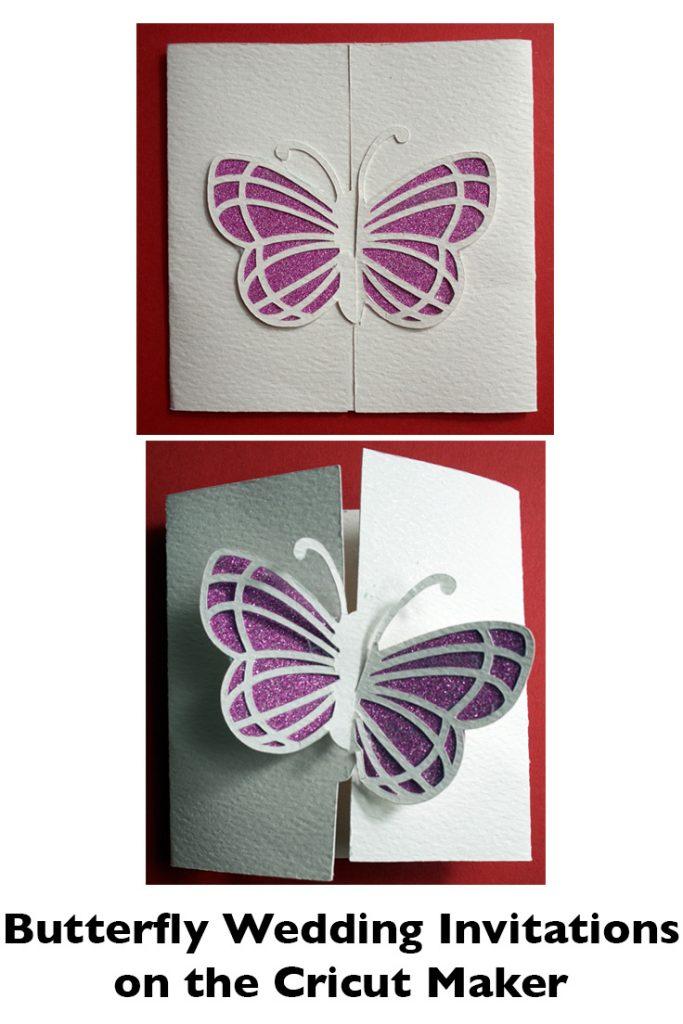 Butterfly Wedding Invitations on Cricut Maker