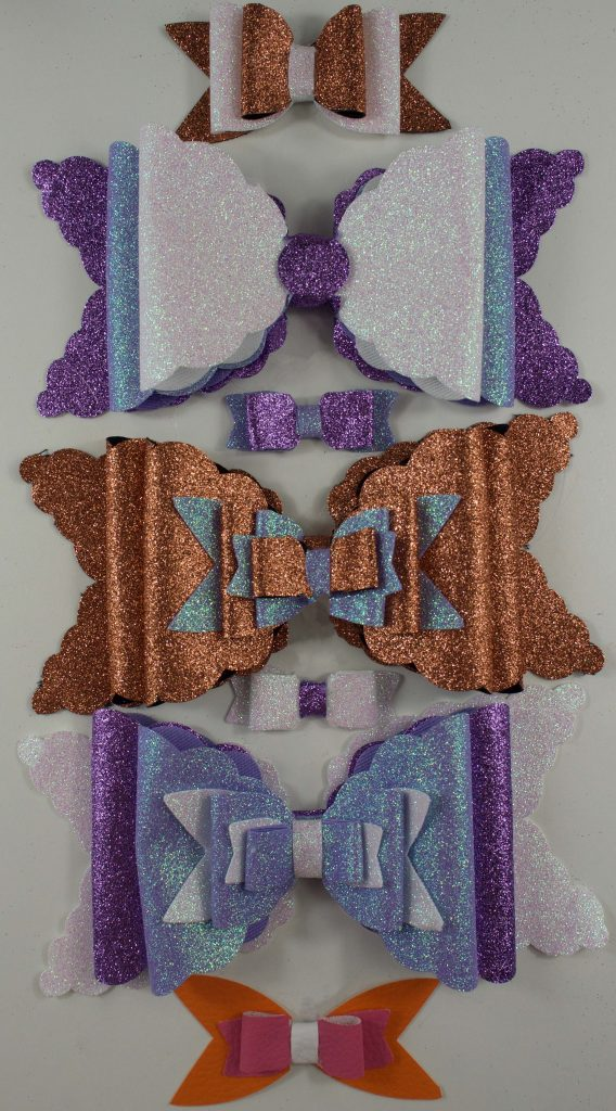 Elaborate Handmade Iridescent Glitter Bows