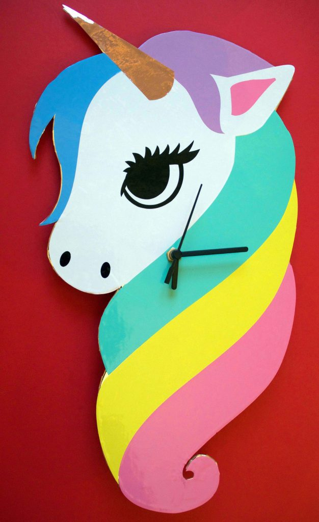 Rainbow Unicorn Clock
