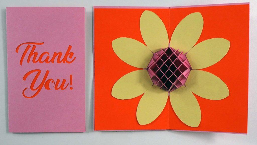 Sunflower pop-up card