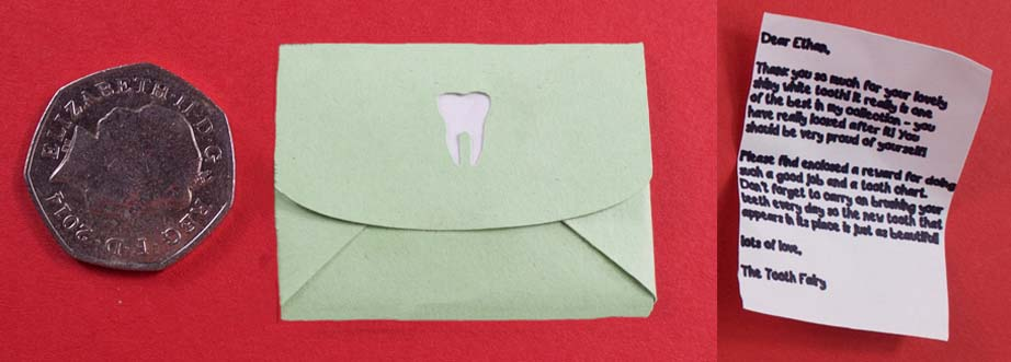 Tiny letter from tooth fairy