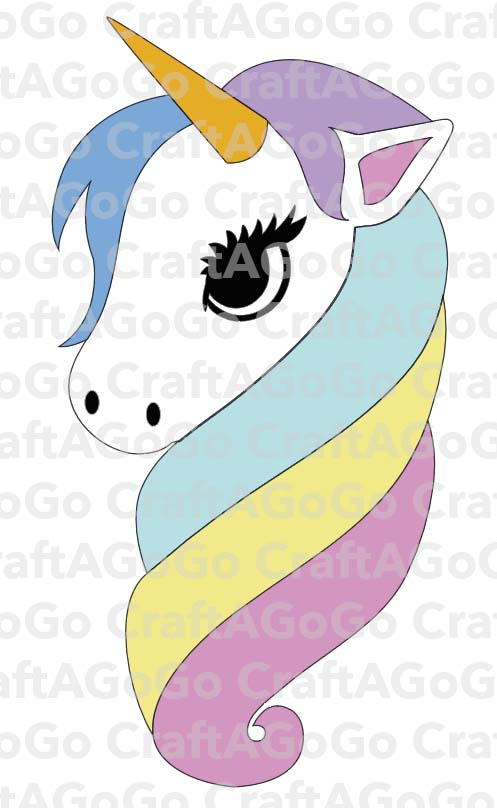 Rainbow Unicorn SVG and Clock Template - CraftAGoGo