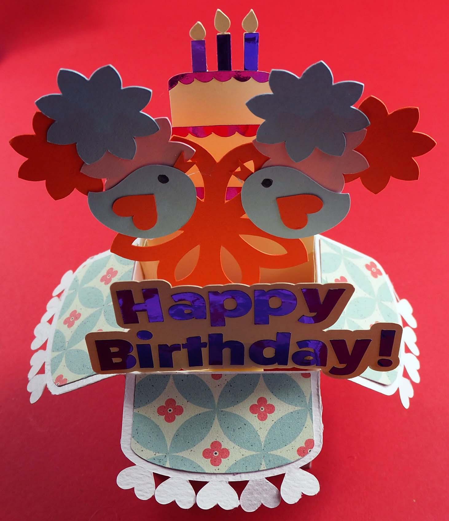 Pop-up Box Cricut Birthday Card