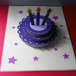 Pop-up three-tier cake birthday card