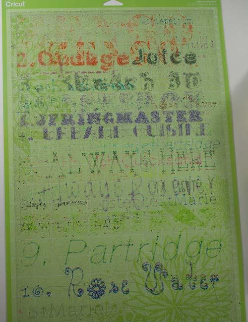 Cricut Cutting Mat covered in ink