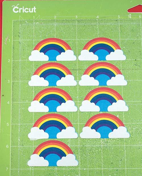 Rainbow Stickers Cricut SVG