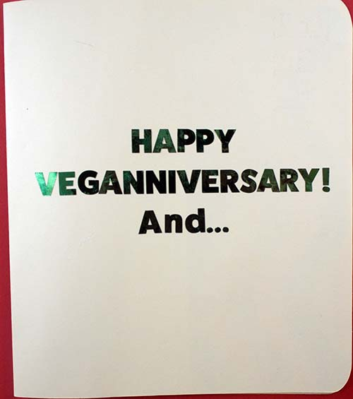 Cover of Veganniversary Card