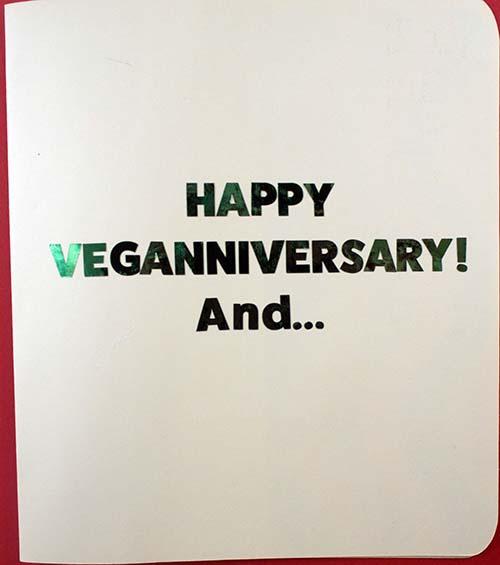 Cover of Veganniversary Card