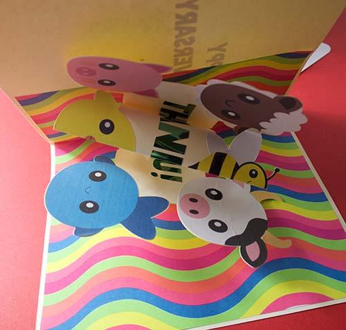 Vegan Pop-up card folding