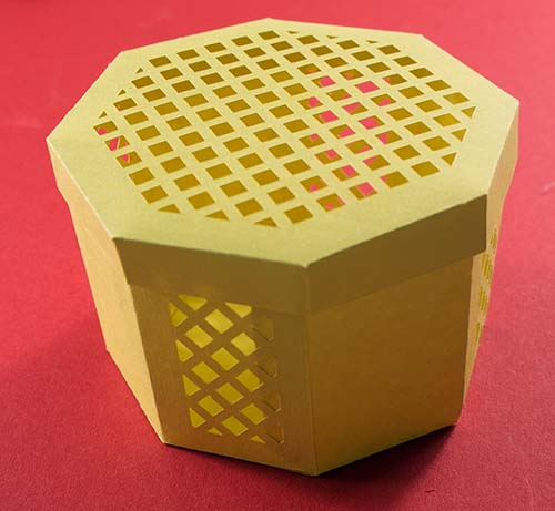 Octagonal lattice box free Cut File