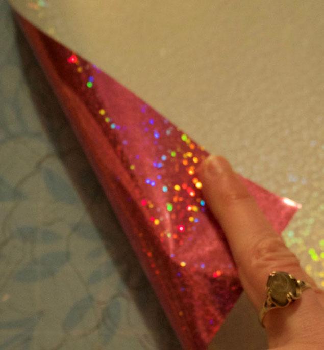 Glitter Pink HTV on Cricut Cutting Mat