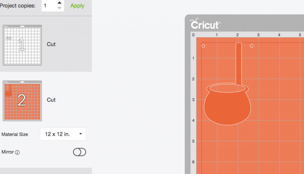 Mat ready to cut out Moneybox Pattern on Cricut