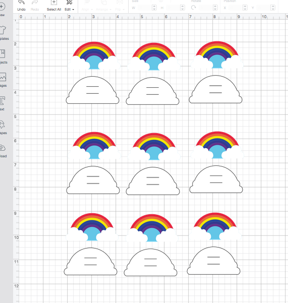 Rainbow stickers and strawtoppers SVG