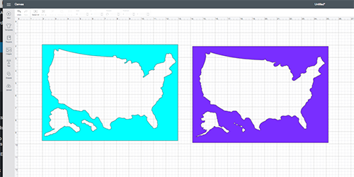 Ungrouping USA Maps in Design Space on the Cricut
