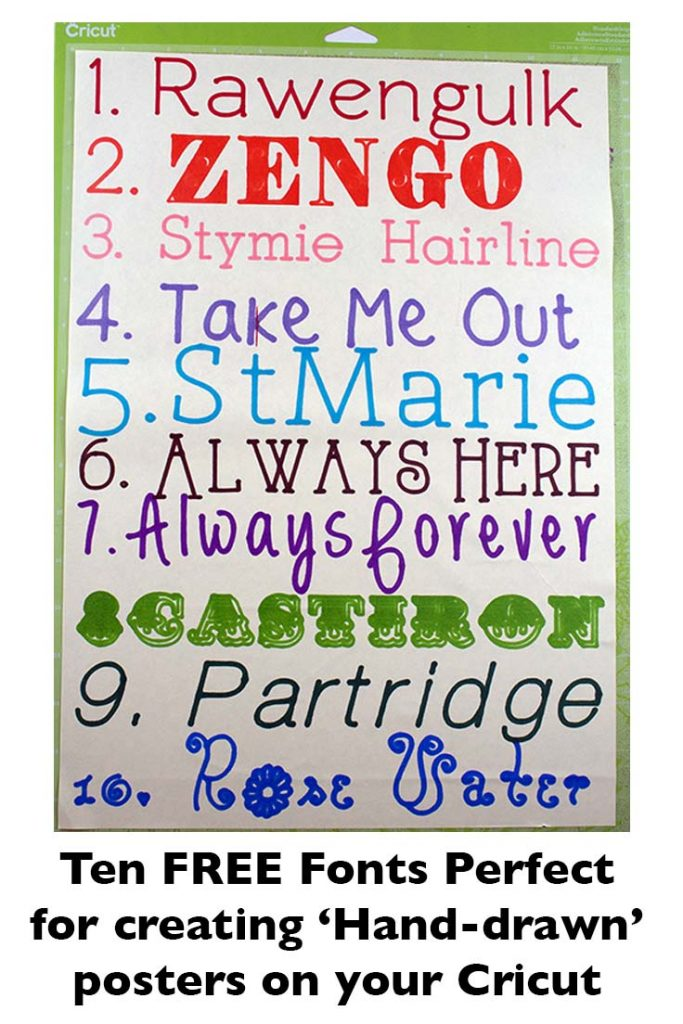 Poster fonts for Cricut
