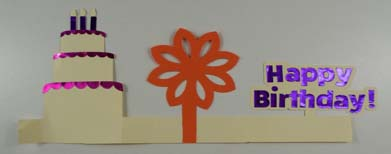 Happy Birthday Pop Up Card Strip
