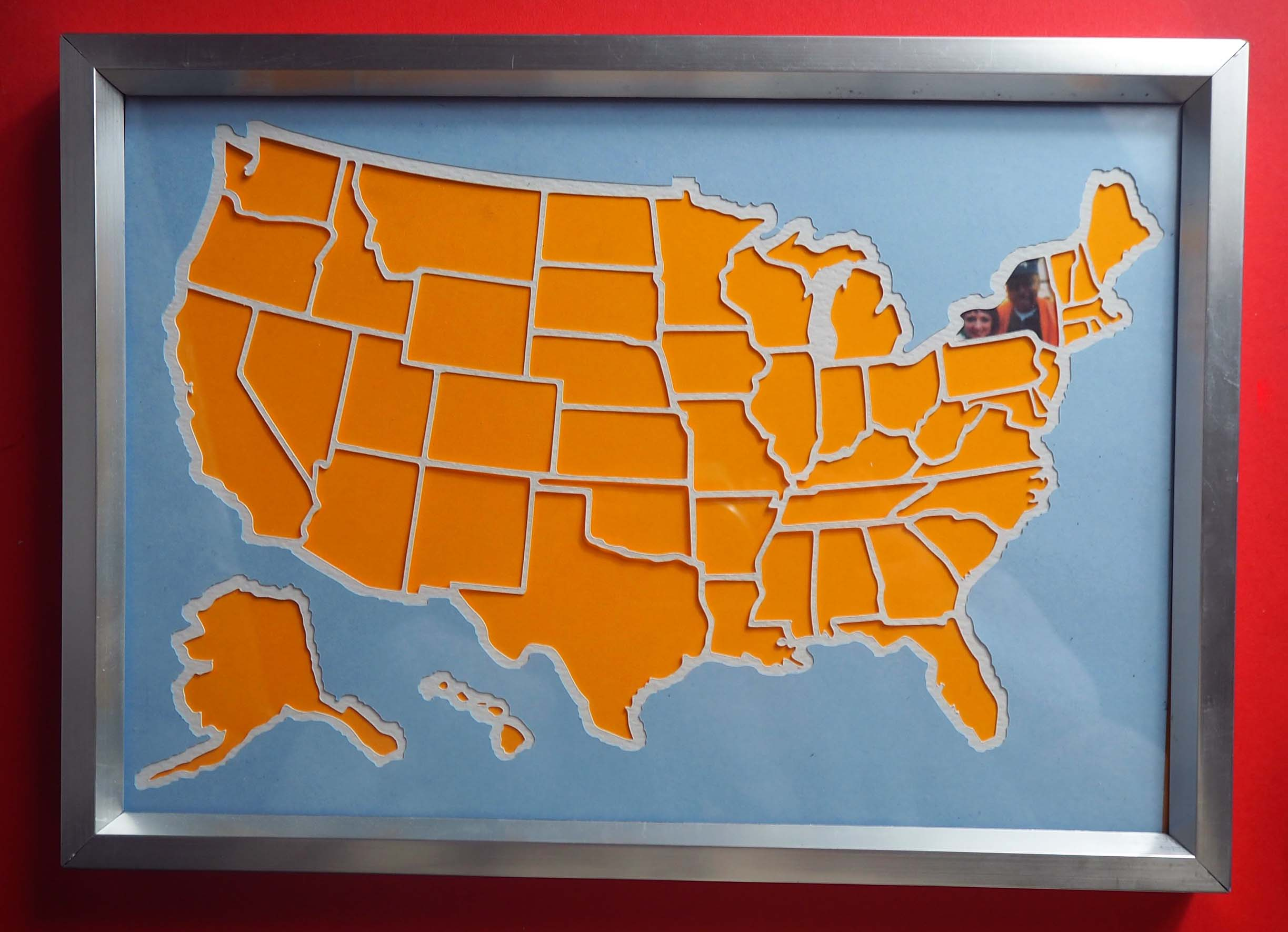 Creating A Framed Photo Map Of The Usa With Your Cricut