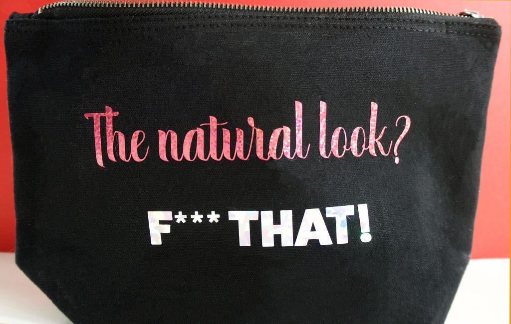 Make Up Bag SVG Slogan Natural Look