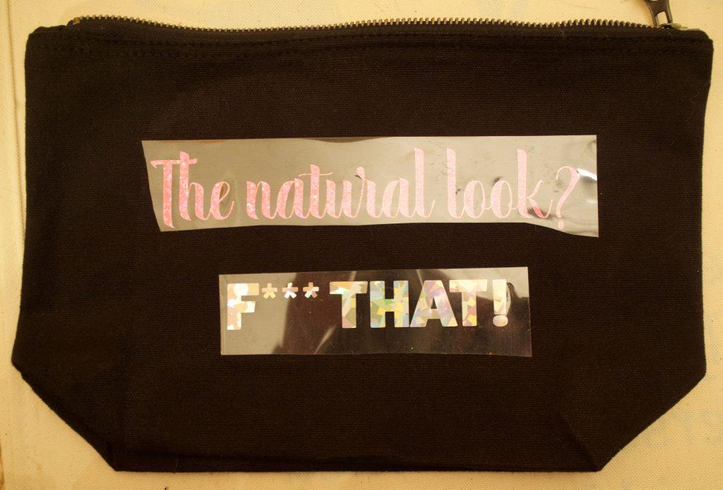 Make Up back with htv sticker