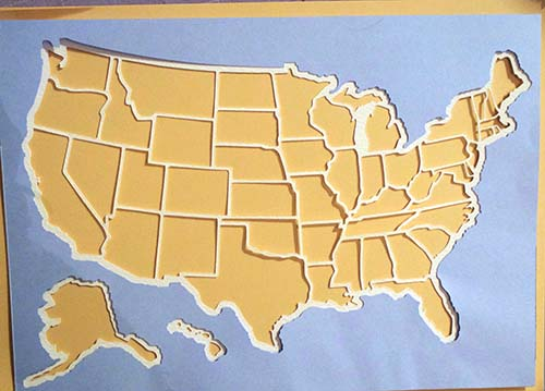Overlaying on Photo Map of USA Cricut Maker FREE File