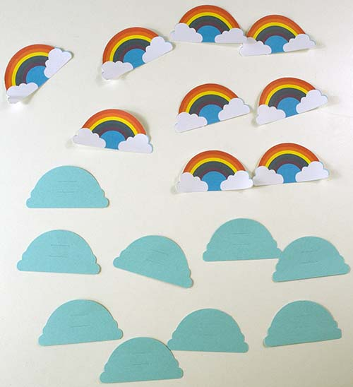 Pieces for Rainbow Straw Toppers