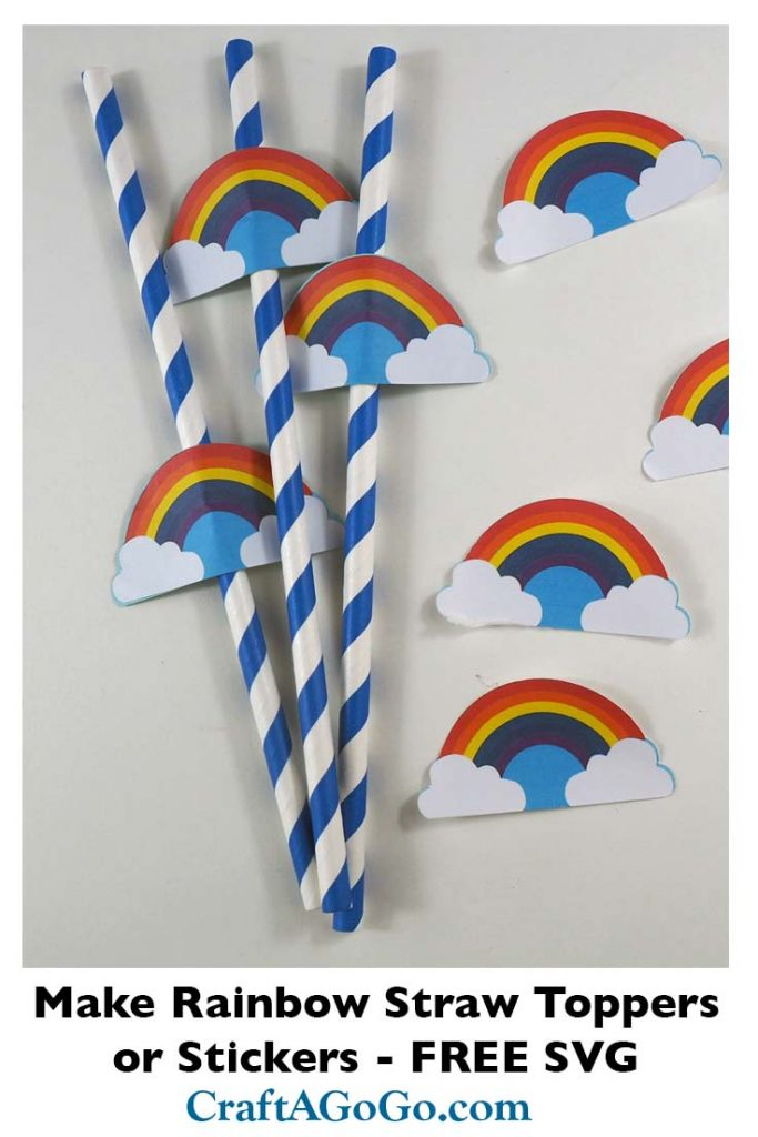 Rainbow Straw Toppers and Stickers