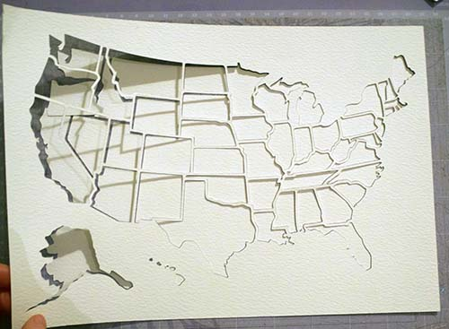 Removing USA Map from Cricut Mat