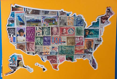 USA Stamps Picture Cricut Project with FREE SVG