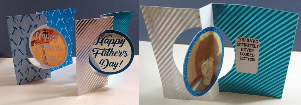 Father Day Photo Swing Card SVG