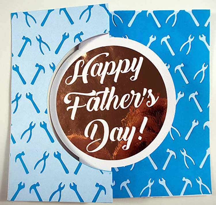 Fathers Day Tools Swing Card SVG