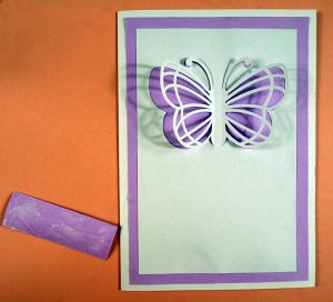 Applying Message to Butterfly Card